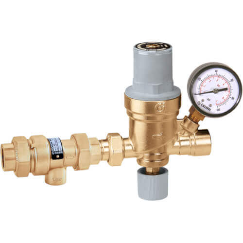 """1/2"""" 573 Backflow Preventer and AutoFill Combination w/ Pressure Gauge (Press x NPT) Product Image"""