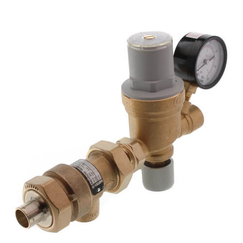 "1/2"" 573 Backflow Preventer & AutoFill Combination w/ Pressure Gauge (Sweat x NPT) Product Image"
