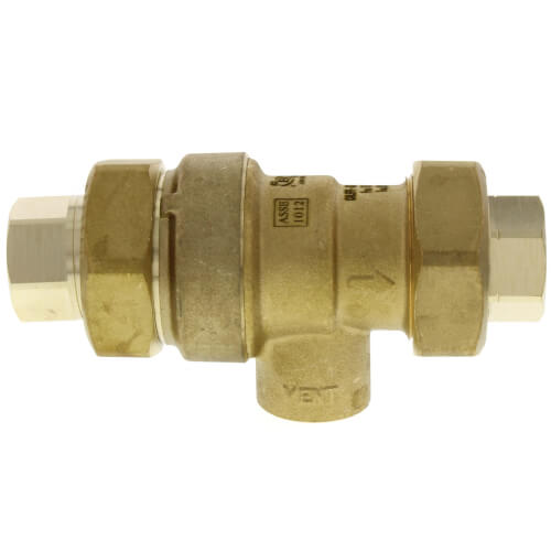 "1/2"" NPT Dual Check Backflow Preventer w/ Atmospheric Vent Product Image"
