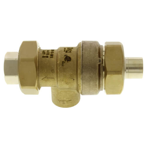 "1/2"" Sweat x NPT Dual Check Backflow Preventer w/ Atmospheric Vent Product Image"