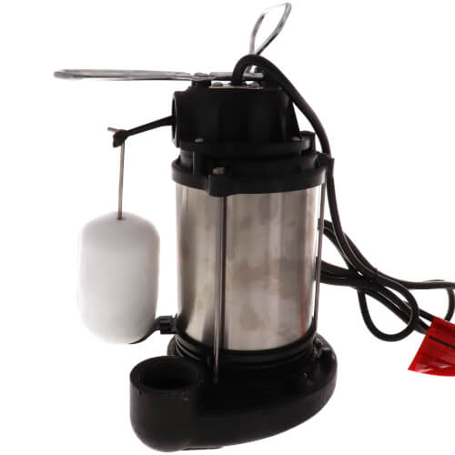 CDU980E 3/4 HP, Cast Iron and Stainless Steel Submersible Sump Pump w/ Vertical Float Switch Product Image