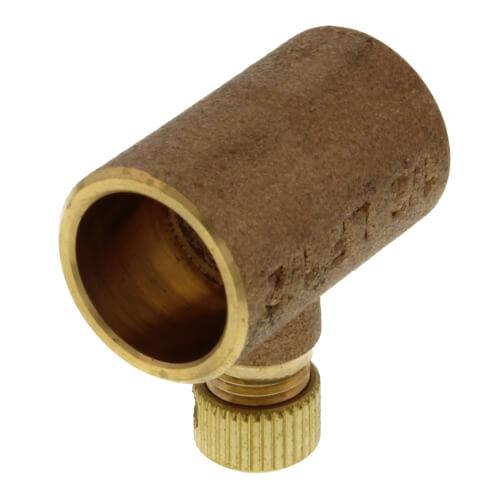 "1/2"" Copper Coupling w/ Drain Cap Product Image"