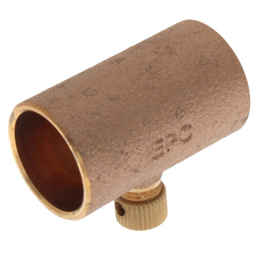 "3/4"" Copper Coupling w/ Drain (Lead Free) Product Image"