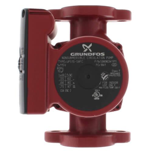 Ups15 58fc 3 Speed Circulator Pump 1 25 Hp 115 Volt