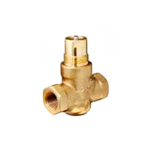 "1"" 2-Way N/C Brass Globe Valve Body, Female (10 Cv) Product Image"