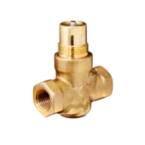 "1/2"" 2-Way N/O Brass Globe Valve Body, Female x Female (0.4 Cv) Product Image"