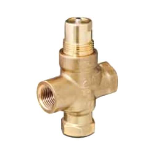 "1"" 3-Way N/O Brass Globe Valve Body, Female x Female (10 Cv) Product Image"