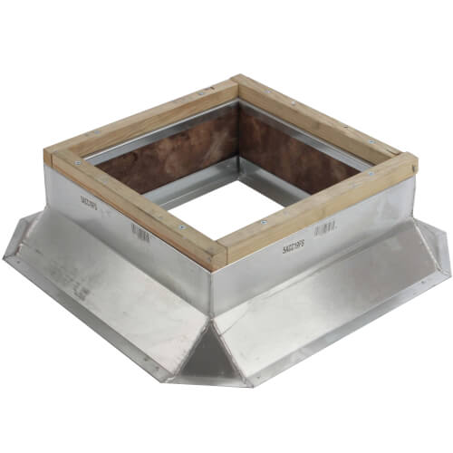 "8"" Galvanized Roof Curb for REC 8XL, 10XL, 10XLT Fans Product Image"