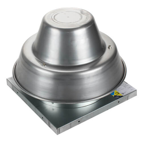 "5DDD Series 10"" Roof Mount Direct Drive Downblast Fan (1/6 HP) Product Image"
