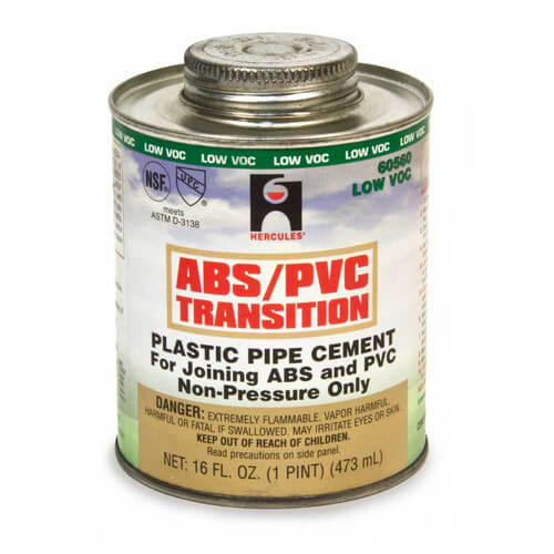 1 pt. Medium Body, Fast Set ABS/PVC Transition Cement (Green) Product Image