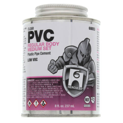 8 oz. Regular Body, Medium Set PVC Cement (Clear) Product Image
