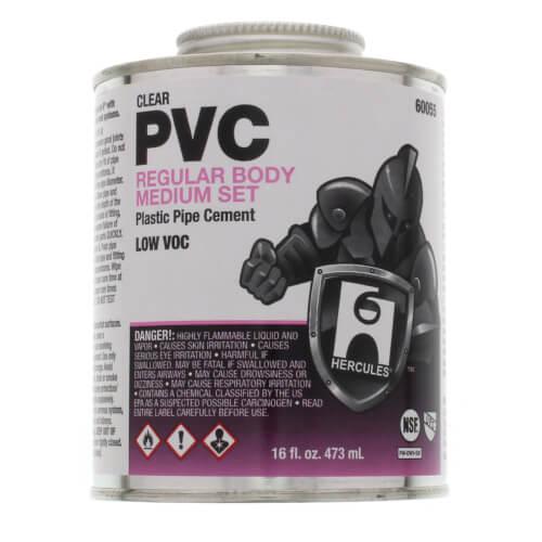 16 oz. Regular Body, Medium Set PVC Cement (Clear) Product Image