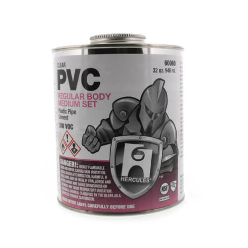 32 oz. Regular Body, Medium Set PVC Cement (Clear) Product Image