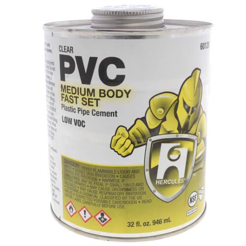 32 oz. Medium Body, Fast Set PVC Cement (Clear) Product Image