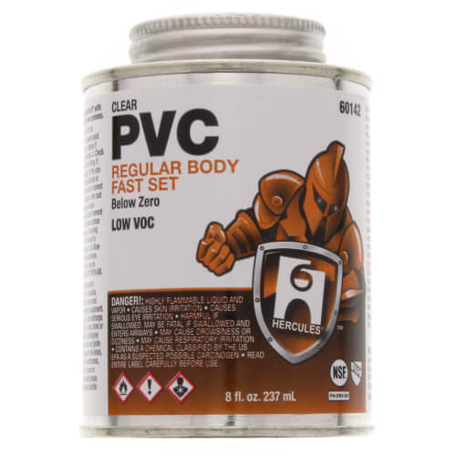 8 oz. Regular Body, Fast Set Below Zero PVC Cement (Clear) Product Image