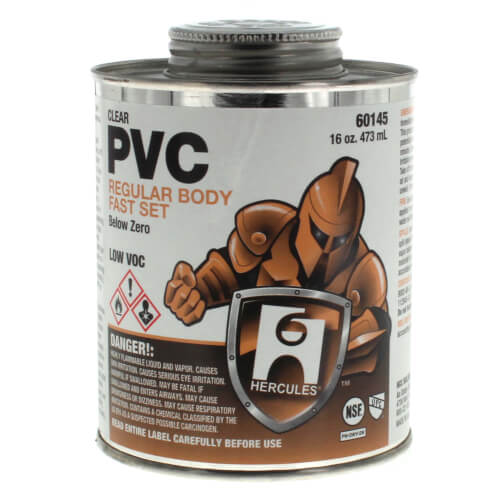 16 oz. Regular Body, Fast Set Below Zero PVC Cement (Clear) Product Image