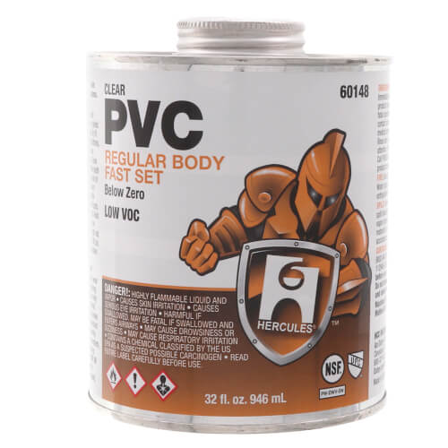 32 oz. Regular Body, Fast Set Below Zero PVC Cement (Clear) Product Image