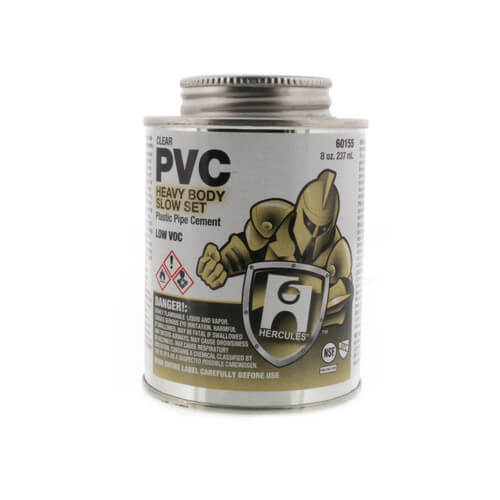 8 oz. Heavy Body, Slow Set PVC Cement (Clear) Product Image