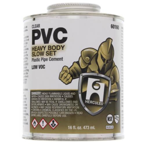 16 oz. Heavy Body, Slow Set PVC Cement (Clear) Product Image