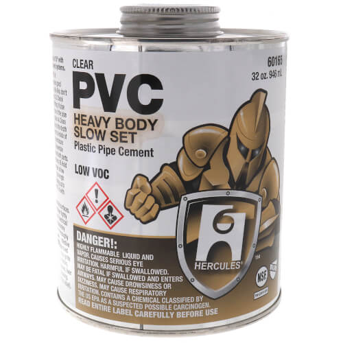 32 oz. Heavy Body, Slow Set PVC Cement (Clear) Product Image