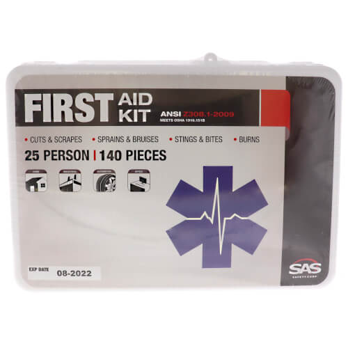 25 Person First Aid Kit - Plastic Case Product Image