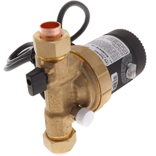 """E1-BCUNRN1W-06 E Series Circulating Pump w/ Adjustable Thermostat and Plug (1/2"""" Union) Product Image"""