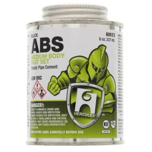 8 oz. Medium Body, Fast Set ABS Cement (Black) Product Image