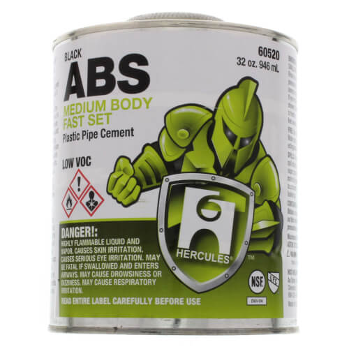 32 oz. Medium Body, Fast Set ABS Cement (Black) Product Image
