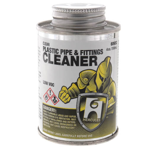 4 oz. Plastic Pipe and Fittings Cleaner (Clear) Product Image
