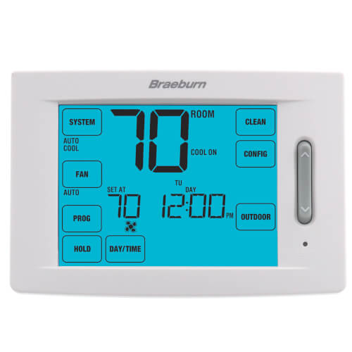 7 Day, 5-2 Day Programmable Touchscreen Hybrid Thermostat (1H/1C) Product Image
