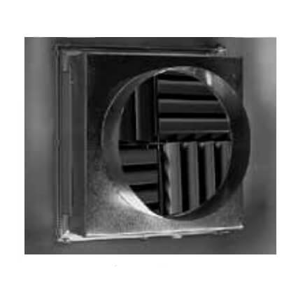 """12"""" x 12"""" Aluminum Adjustable Modular Core Diffuser w/ 10"""" Round Duct (MCDSTSR Series) Product Image"""