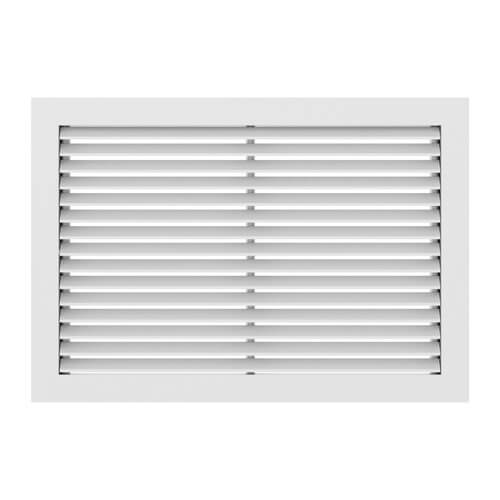"""16"""" x 8"""" (Wall Opening Size) Satin Anodized Extruded Aluminum Return Grille (RH45 Series) Product Image"""