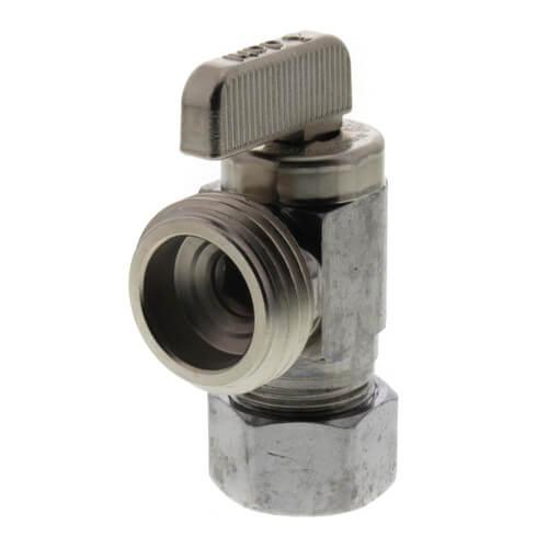 "5/8"" OD Comp (1/2 Nom. Pipe) x Male Hose, Angle Hose & Boiler Drain, Lead Free (Chrome Plated) Product Image"