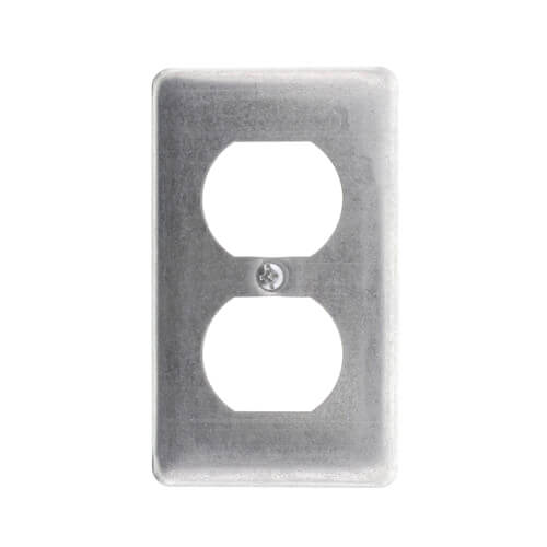 Flat-Two Duplex Receptacle Cover Product Image