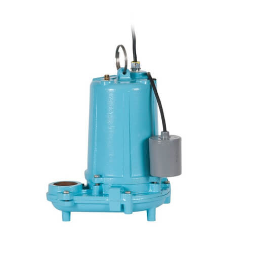 WS100HM-12-20, 1 HP, 150 GPM Manual Submersible High Head Effluent Pump 208/230V, 20 Ft. Cord  Product Image