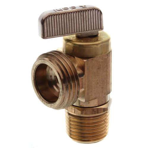 "1/2"" Female Sweat or 1/2"" MIP x Male Hose, Angle Hose & Boiler Drain Valve, LF (Brass) Product Image"