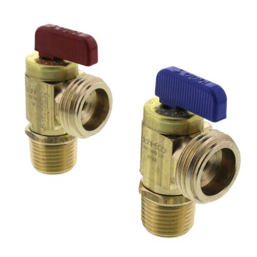 "1/2"" Female Sweat or 1/2"" MIP x Male Hose, Angle Hose/Boiler Drain Valve, LF, Brass (Pkg of 2) Product Image"