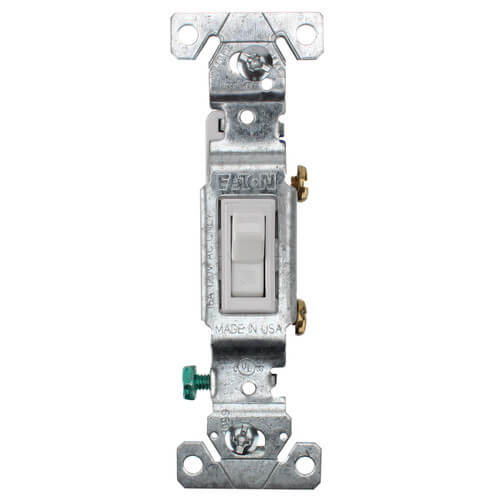 1P, 1/2 HP White Toggle Switch, 15A (120V) Product Image