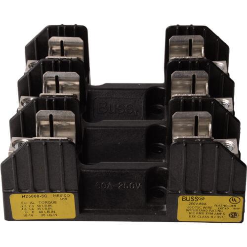60 Amp 3P Class H Fuseblock (250V) Product Image