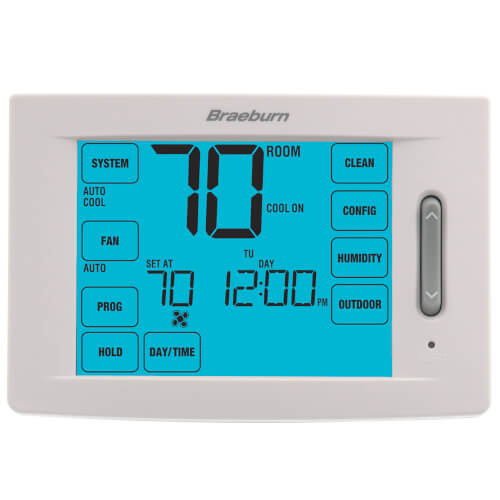 7 Day, 5-2 Day Programmable Touchscreen Hybrid Thermostat (4H/2C) Product Image