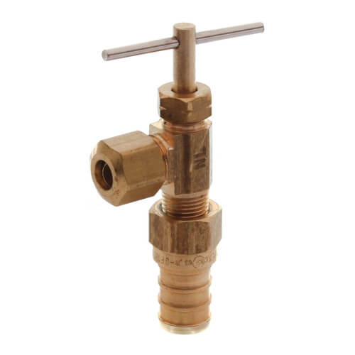 "Ice Maker Valve, 1/2"" PEX Crimp x 1/4"" OD Compression, Lead Free (Straight) Product Image"