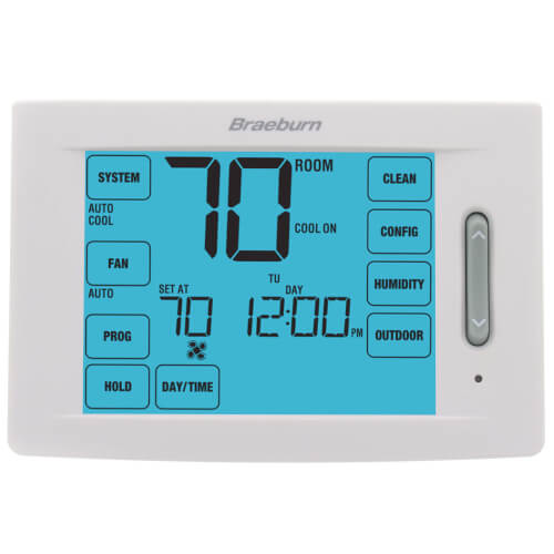 7 Day, 5-2 Day Programmable Touchscreen Hybrid Thermostat w/ Humidification Control (4H/2C) Product Image
