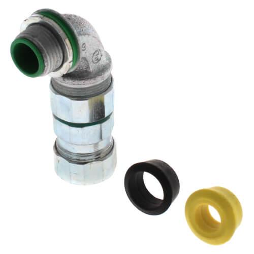 "1/2"" Liquid-tight 90° Concrete Tight MC Cable Connector Product Image"