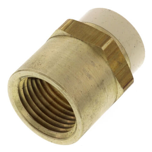 "1/2"" CPVC x FIP Brass Straight Adapter (Lead Free) Product Image"