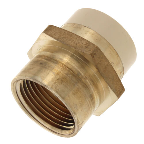 "1"" CPVC × 1"" FIP Brass Straight Adapter (Lead Free) Product Image"
