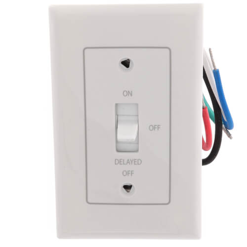 Fan/Light Control w/ Off Delay (White) Product Image