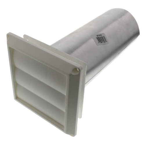 650 017 Diversitech 650 017 4 Quot Louvered Dryer Vent Hood Pipe Amp Collar Unassembled White