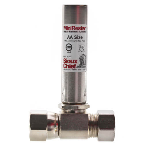 "Mini-Rester Water Hammer Arrestor - 5/8"" O.D. Compression x 5/8"" O.D. Female Compression Tee (Lead Free) Product Image"