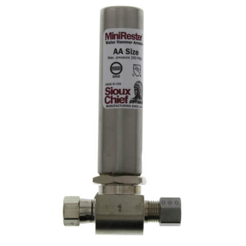 """Mini-Rester Water Hammer Arrestor - 1/4"""" O.D. Compression x 1/4"""" O.D. Female Compression Tee (Lead Free) Product Image"""