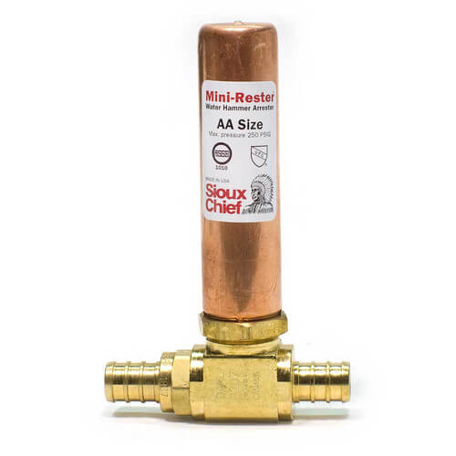 "Mini-Rester Water Hammer Arrestor - 1/2"" PEX Crimp Tee F1807 (Lead Free) Product Image"